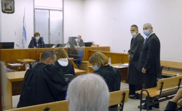 משפט נתניהו  (צילום: החדשות 12 - חן, החדשות12)