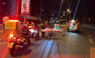 """תיעוד מזירת התאונה, רמת גן (צילום: תיעוד מבצעי מד""""א)"""