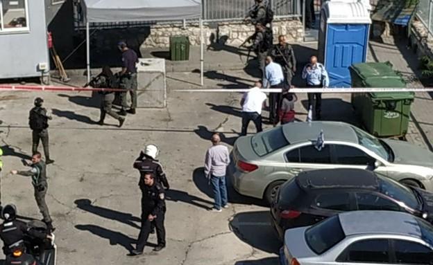 זירת ניסיון הפיגוע בג'בל מוכבר (צילום: נעמי קמחין)