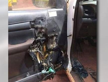 האם שריפה באוטו נגרמה בגלל אלכוג'ל?