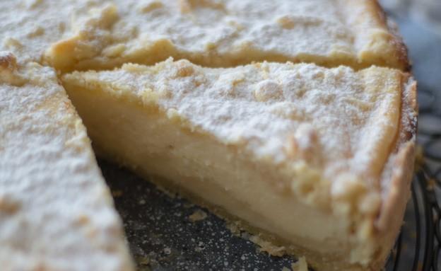 פאי גבינה לימון פירורים חתוכה (צילום: קרן אגם, אוכל טוב)
