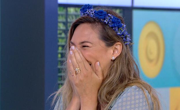 """מיכל אנסקי חשפה בשידור שיצאה עם ליאון (צילום: מתוך """"פאולה וליאון"""", קשת 12)"""