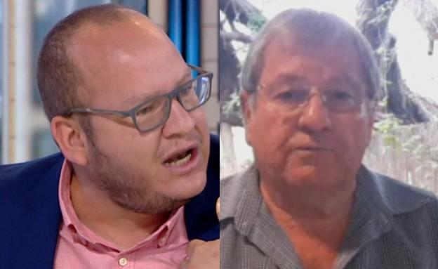 """חיים לוינסון ופיני בדש (צילום: מתוך """"חדשות הבוקר"""" , קשת 12)"""