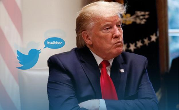 טראמפ מאיים על טוויטר (עיבוד: רויטרס)