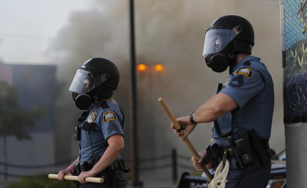 המחאות במיניאפוליס (צילום: AP)