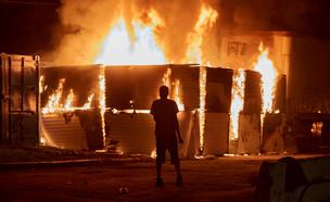 המחאות במיניאפוליס (צילום: שי פרנקו, רויטרס)