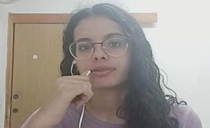 """תלמידה שנדבקה בקורונה בגימנסיה העברית (צילום: מתוך """"חדשות הבוקר"""" , קשת 12)"""