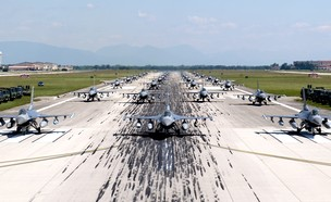 תיעוד המפגן (צילום: avianoairbase, פייסבוק)