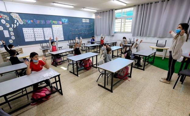 קורונה בישראל - בית ספר במבשרת ציון חוזר לשגרה
