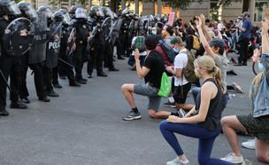 ההפגנות בוושינגטון הלילה (שעון ישראל) (צילום: רויטרס)