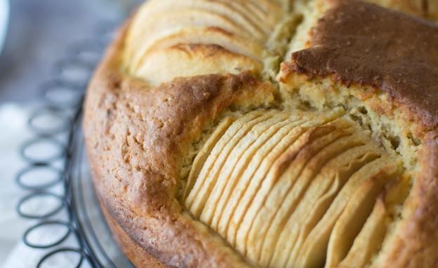 עוגת תפוחים שקועים בלי אבקת סוכר (צילום: קרן אגם, אוכל טוב)