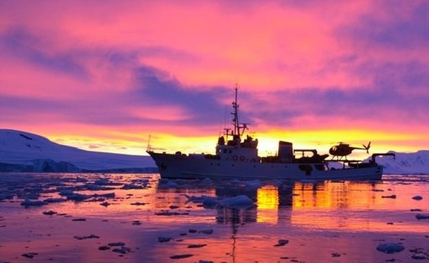 שקיעה באנטארקטיקה (צילום: braveheart.pn)