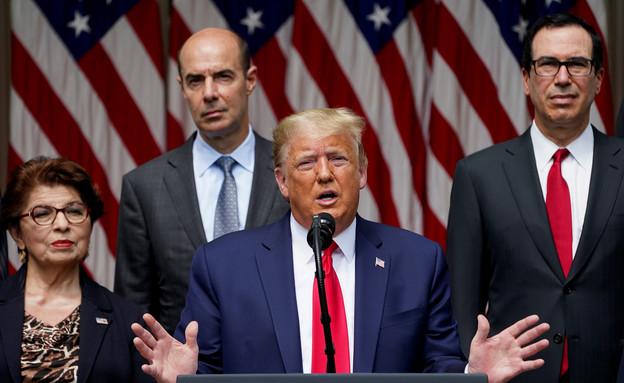 טראמפ בנאומו בבית הלבן (צילום: רויטרס, שי פרנקו, רויטרס)