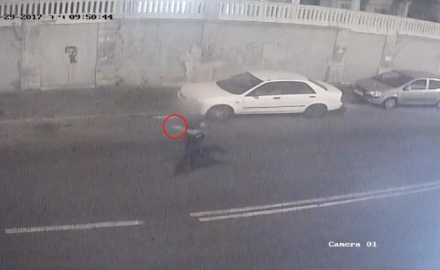 תיעוד הירי ממצלמות אבטחה