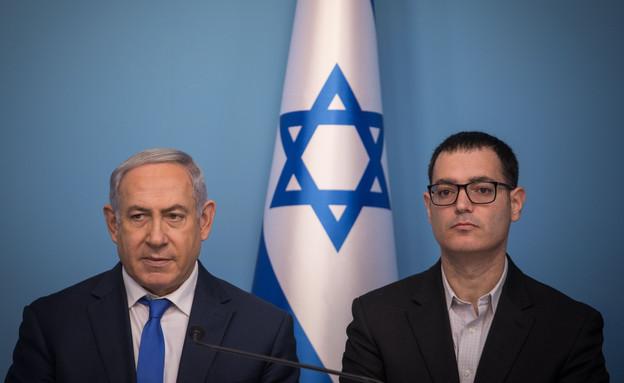 Netanyahu and Moshe Bar Siman Tov (Photo: Hadas Porush, Flash 90)
