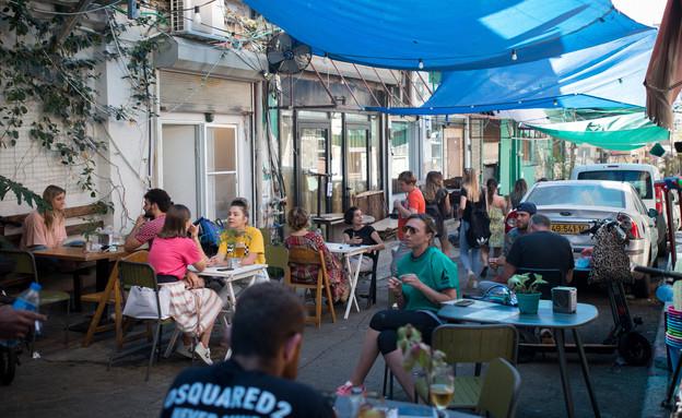 מסעדה בתקופת הקורונה (צילום: Miriam Alster Flash90, פלאש 90)