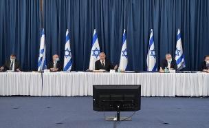 """ראש הממשלה נתניהו בישיבת קבינט הקורונה (צילום: עמוס בן גרשום, לע""""מ)"""