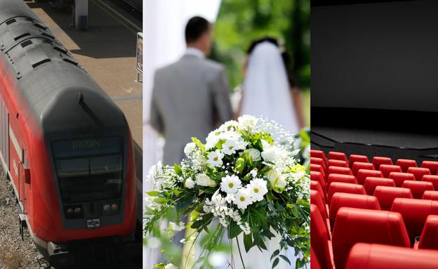 עיבוד: קולנוע, חתונה, רכבת (צילום: 123rf)