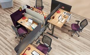 סביבת עבודה (צילום: Steelcase, באדיבות מיי דסק )