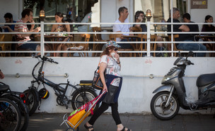 קורונה תל אביב מסכות מסעדות (צילום: מרים אלסטר פלאש 90)