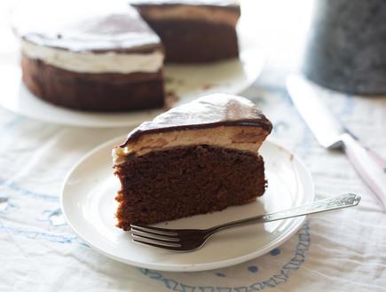 עוגת שוקולד נוסטלגית - פרוסה