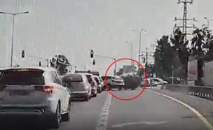 """תאונה בצומת ביל""""ו (צילום: איל כהן)"""