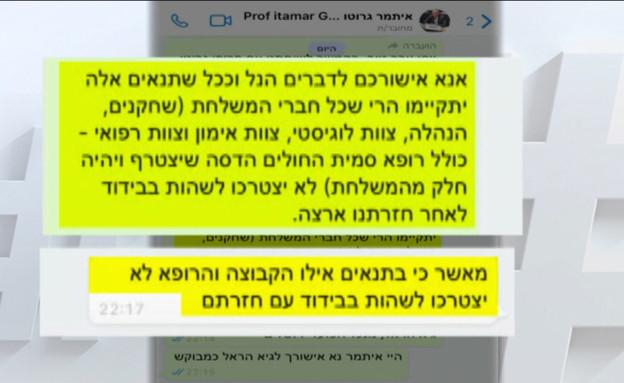 הפס מבידוד: גרוטו אישר פטור גם לשחקני הפועל ירושלי (צילום: מתוך חי בלילה, קשת 12)