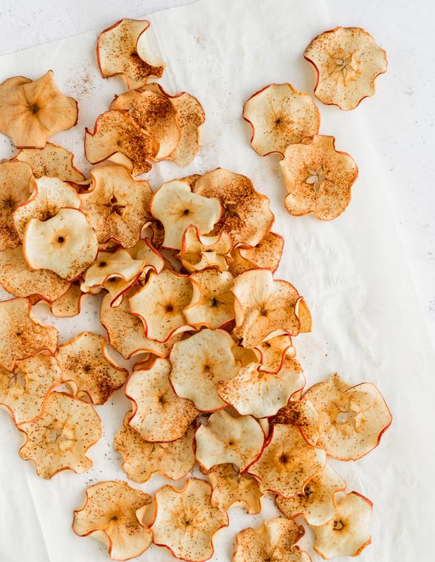 צ'יפס תפוחי עץ מפוזרים
