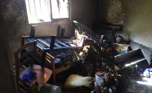 שרפה במעון בית חנה רונן ברחובות (צילום: N12)