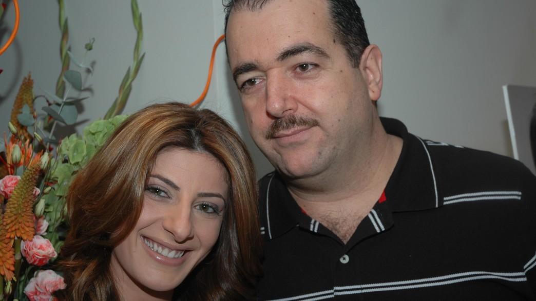 אבי גואטה מחובק עם שרית חדד באירוע של אמיר מזרחי (צילום: גיגי, יחסי ציבור)