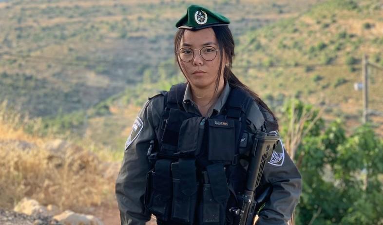 לוחמת מג''ב דבורה בנישו (צילום: חטיבת דוברות משטרת ישראל)