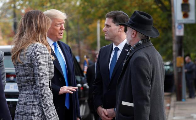 "השגריר רון דרמר ונשיא ארה""ב טראמפ (צילום: Reuters)"