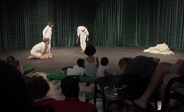 ההצגה הראשונה לאחר הקורונה (צילום: N12)