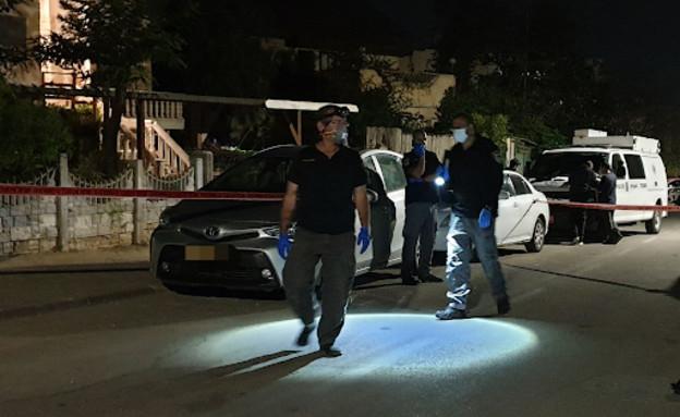 זירת הרצח באופקים (צילום: דוברות המשטרה)