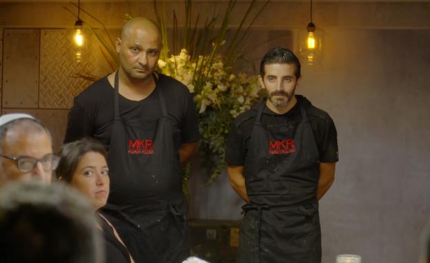 המתמודדים מנקדים את המסעדה של שמעון ודורון