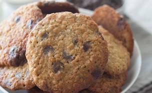 עוגיות שוקולד צ'יפס רכות עם שיבולת שועל וטחינה  (צילום: קרן אגם, אוכל טוב)