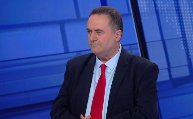 """ראיון עם שר האוצר ישראל כ""""ץ  (צילום: החדשות 12)"""