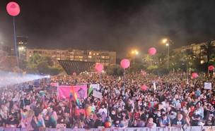 עצרת הגאווה בתל אביב (צילום: המרכז הגאה, פייסבוק)