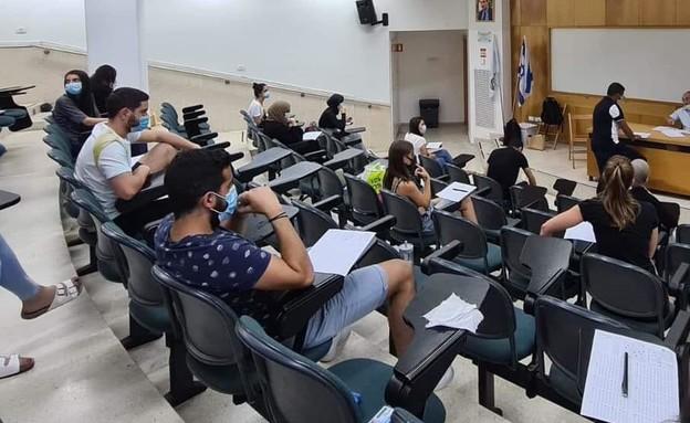 מבחן באוניברסיטת תל אביב (צילום: צולם על ידי סטודנטים באוניברסיטת תל אביב)
