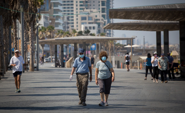 קורונה בישראל - תל אביב (צילום: מרים אלסטר, פלאש 90)