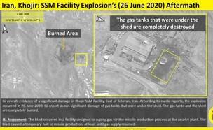 תמונות לווין של האיזור בו ארע הפיצוץ באירן (צילום: ImageSat International (ISI)
