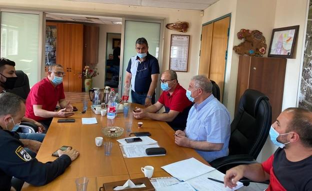 ישיבת חירום של מועצת טמרה