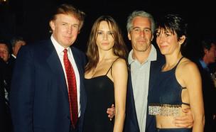 גיליין מקסוול, ג'פרי אפשטיין והזוג טראמפ (צילום: Davidoff Studios/Getty Images)