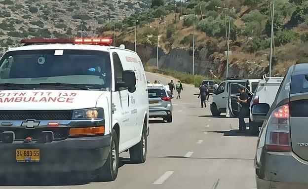 תקרית בין פלסטינים לישראלים בשומרון  (צילום: יאיר שהם)