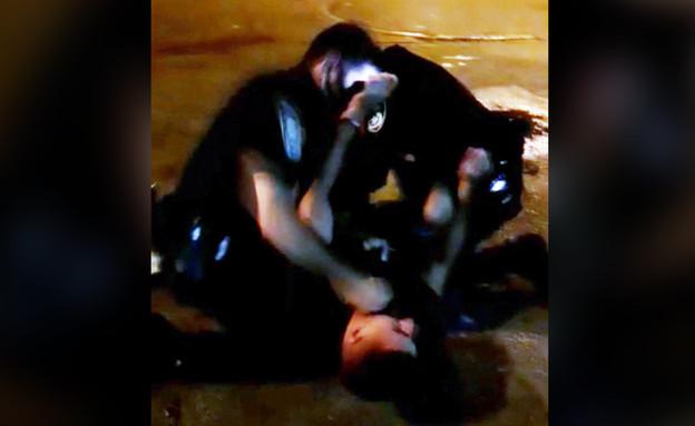 מוויכוח על עטיית מסכה - לאלימות קשה: מעצר אלים בחולון