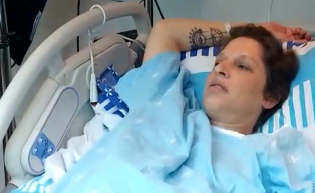 """השעות הדרמטיות של מיקה קרני בחדר הלידה (צילום: מתוך """"חדשות הבוקר"""" , קשת 12)"""