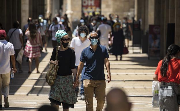 קורונה בירושלים, יולי 2020 (צילום: אוליבר פיטוסי , פלאש 90)