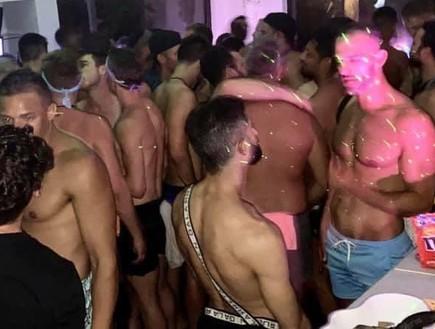 מסיבת הגייז בזמן קורונה (צילום: טוויטר)