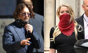 אמבר הרד, ג'וני דפ בבית המשפט (צילום: Daniel Leal-Olivas/AFP; Karwai Tang/WireImage via GettyImages)