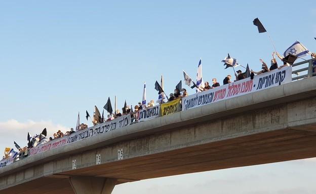 מחאת הדגלים השחורים (צילום: הדגלים השחורים)